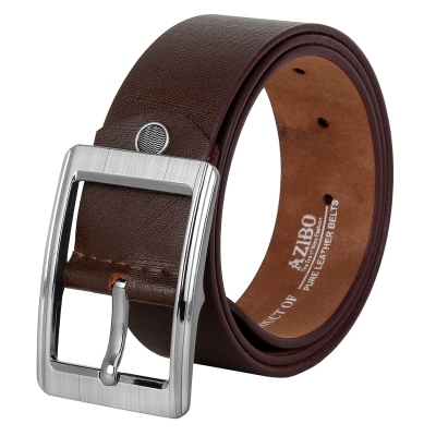 Azibo Casual, Party, Formal, Evening Brown Genuine Leather Belt