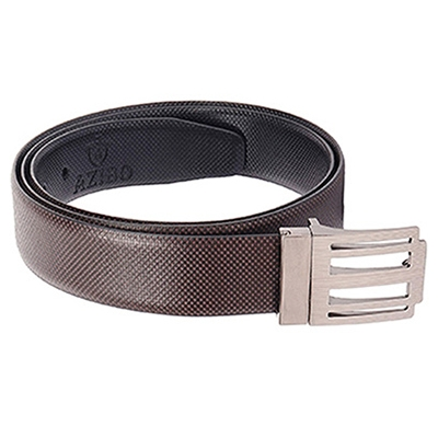 AZIBO FORMAL, CASUAL, PARTY BROWN, BLACK TAXES LEATHERITE REVERSIBLE BELT