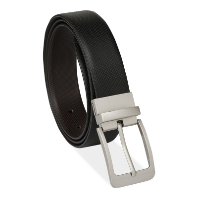 Azibo Casual, Party, Formal, Evening Black, Brown Leatherite Reversible Belt