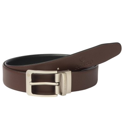 Azibo Casual, Party, Formal, Evening Black, Brown Genuine Leather Reversible Belt