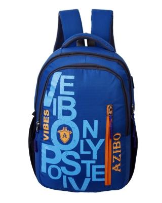Azibo Blue Durable & Waterproof Rucksack/Business/School/College/Travel/Office Backpack