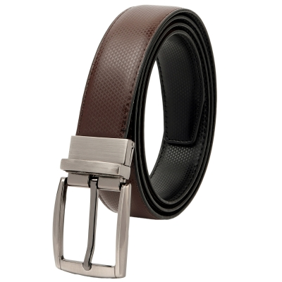 Men Casual, Party, Formal, Evening Black, Brown, Texas Leatherite Reversible Belt